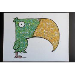 Le toucan vert et jaune