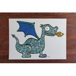 Le petit dragon turquoise