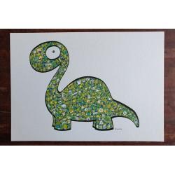 Dino vert - A4